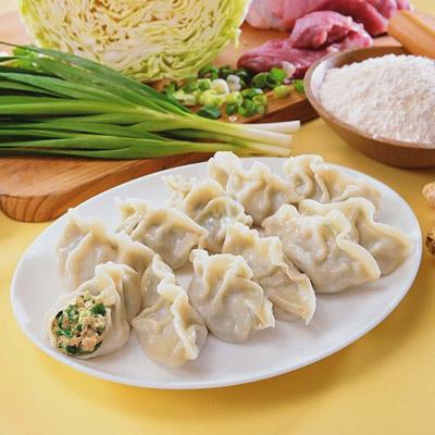 手工韭菜水餃(880g/40粒/包)