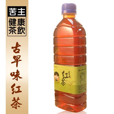 苦主健康茶飲古早味紅茶(450ml/瓶)