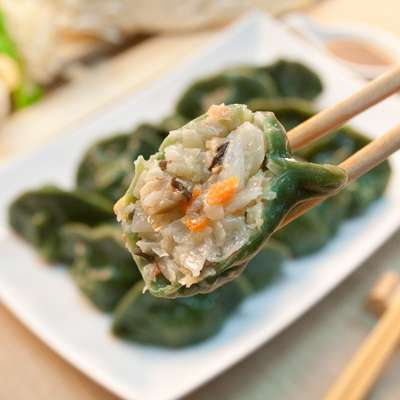 螺旋藻高麗菜純手工水餃-全素食(15顆)