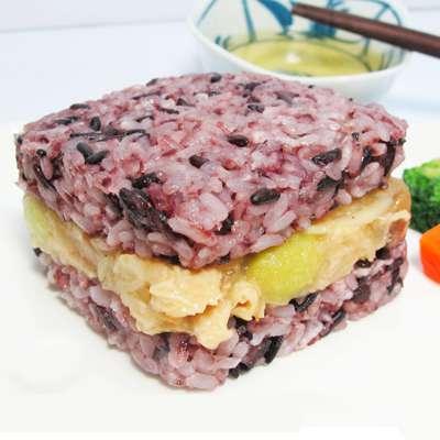 米食天地紫米薑汁素鮮菇米漢堡-全素(170g/單入)