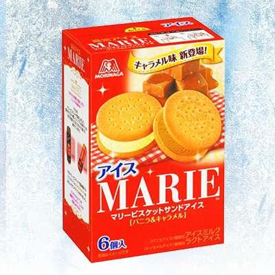 森永瑪莉餅乾夾心冰淇淋(香草、焦糖)(6入)