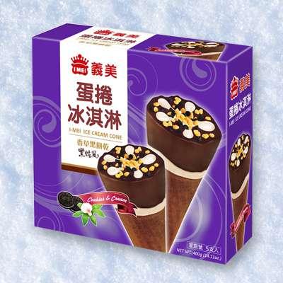 義美黑旋風蛋捲冰淇淋(5支/盒)