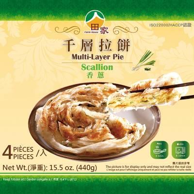 田家拉餅千層香蔥拉餅(120g*4入/盒)