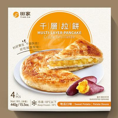 千層地瓜拉餅(120g*4入/盒)