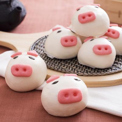 禎祥小豬甜包-芋頭(60g*10粒/包)