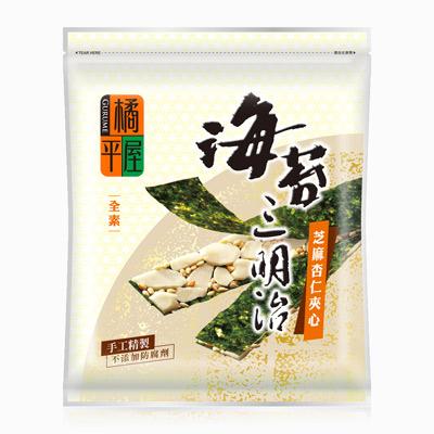 橘平屋海苔三明治-芝蔴杏仁夾心(50g/包)