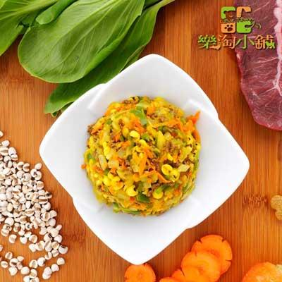 樂淘小舖毛小孩-咖哩牛肉薏仁飯(150g/包)