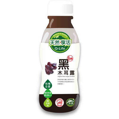 Q-life享活有機黑糖黑木耳露(350ml/瓶)