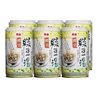 泰山绿豆椰果汤(330g*6入/组)