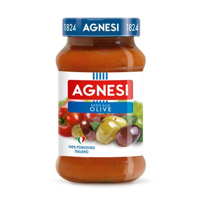 Agnesi義大利蕃茄橄欖麵醬(400g/瓶)