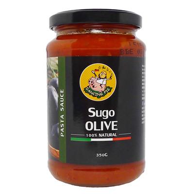 Dancing pig豬跳舞義式番茄橄欖麵醬(350g/瓶)
