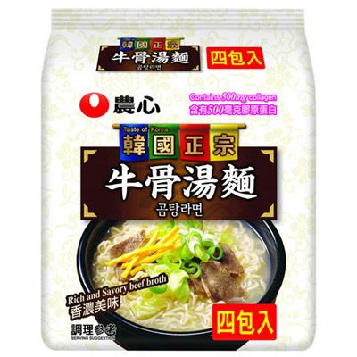 農心農心牛骨湯麵(4入-444g/袋)