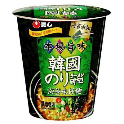 農心農心海苔味杯麵(65g/杯)