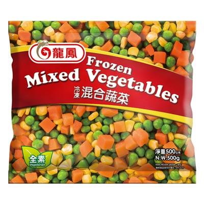 龍鳳龍鳳冷凍三色混合蔬菜(500g/包)