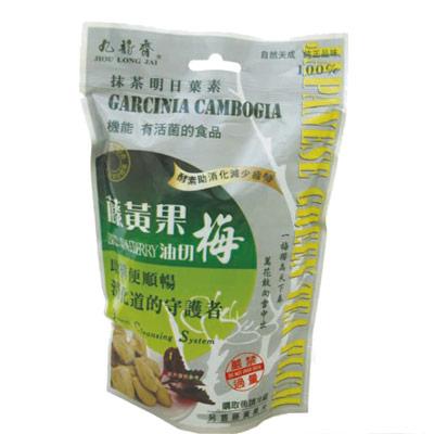九龍齋抹茶藤黃果油切梅(180g/包)