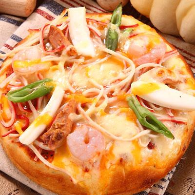 瑪莉屋-口袋比薩熱海蟳味三鮮比薩(厚皮)(170g/包)