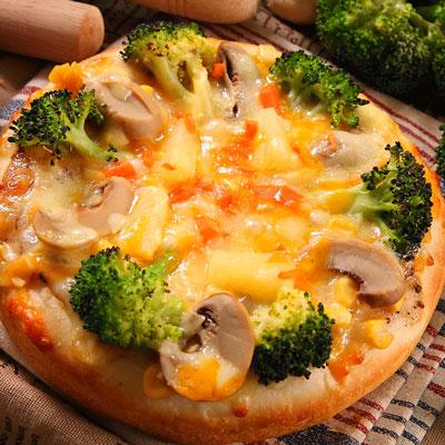 椰菜鮮菇比薩(奶素)(薄皮)(125g/包)