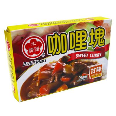 牛頭牌(甘味)咖哩塊(66g/盒)