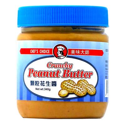 美味大師顆粒花生醬-純素(340g/罐)