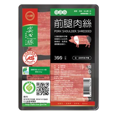 台糖前腿肉絲(300g/包)