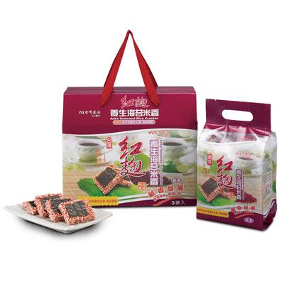 台酒台酒紅麴養生海苔米香禮盒(200g*3包/箱)
