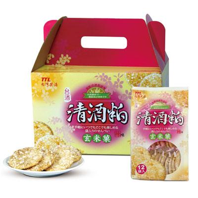台酒台酒清酒粕玄米菓禮盒-辣味(150g*6包/箱)