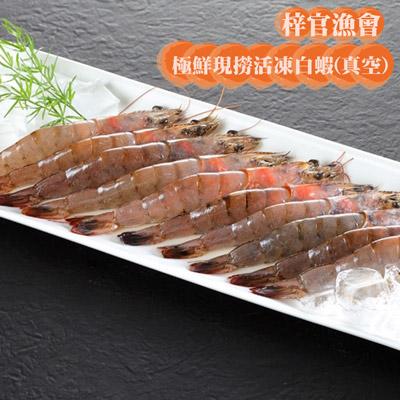 極鮮現撈活凍白蝦(真空)(300g/包)