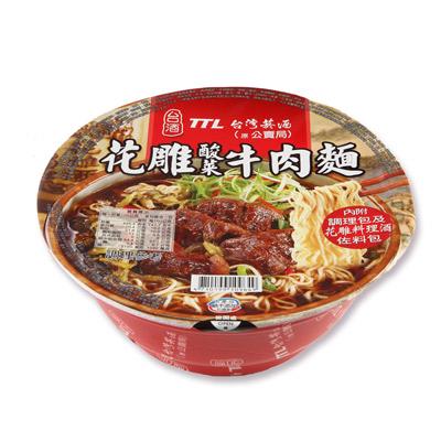 台酒台酒花雕酸菜牛肉麵-碗麵(200g/碗)