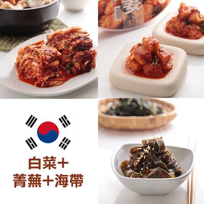 醄醴敬妻泡菜光州鮮脆泡菜組(白菜+菁蕪+海帶)