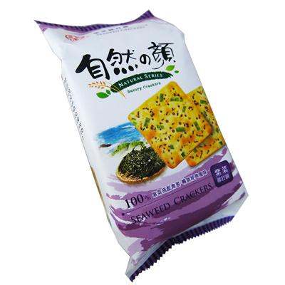 中祥自然の顏獨享包-紫菜蘇打餅(80g/包)