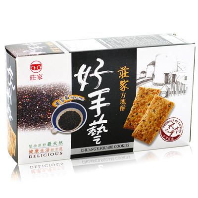 莊家莊家好手藝黑芝麻方塊酥(170g/盒)