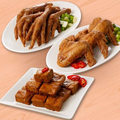 祿大經典滷味C組(雞翅、雞腳、豆干各2包-微辣)