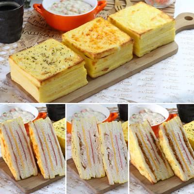 黃金厚燒焗烤三明治綜合組(3口味各2入)