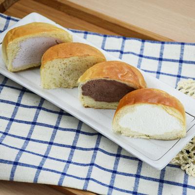 Q心冰淇淋麵包-綜合(60g*10入/5口味各2)