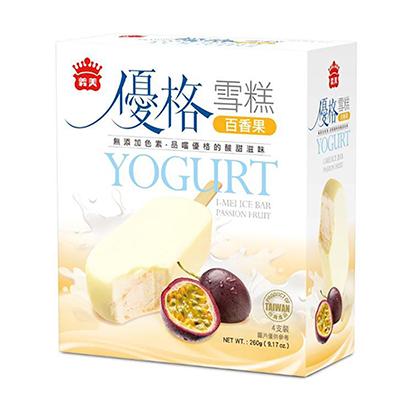 義美優格雪糕-百香果(65g*4入/盒)