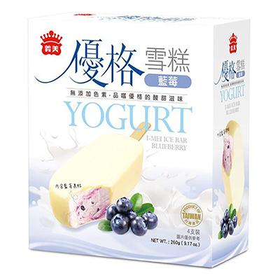 義美優格雪糕-藍莓(65g*4入/盒)