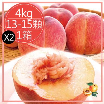 日本和歌山水蜜桃(4kg/13-15顆*2箱)