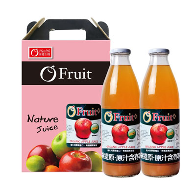 義大利O'Fruit有機蘋果汁2入禮盒