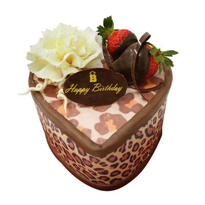 情人節蛋糕-愛心豹紋6吋