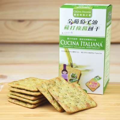 全葡萄子油蘇打綠醬餅乾-全素(155g/盒)