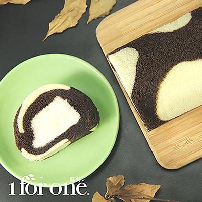 鮮奶凍捲2入組(原味x1/條+巧克力x1/條)