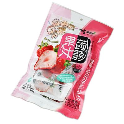 草莓果汁蒟蒻果凍