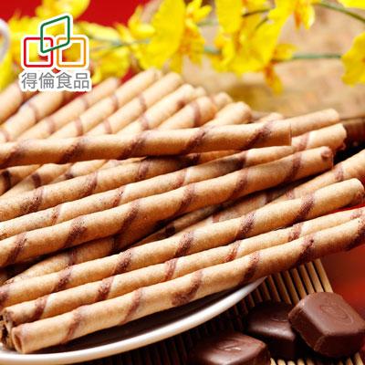 哈皮巧克力卷心酥-奶素(370g/罐)