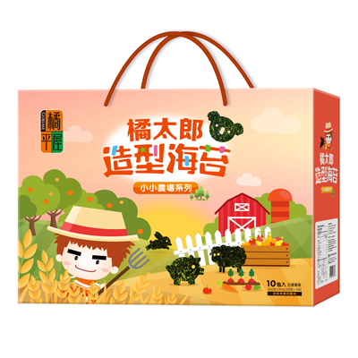 橘太郎味付造型海苔禮盒-小小農場(10包/盒)