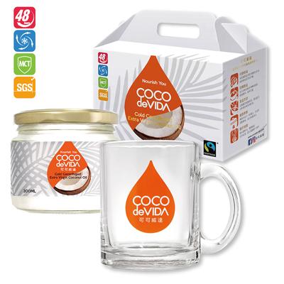 冷離心初榨椰子油300ML防彈咖啡杯禮盒組