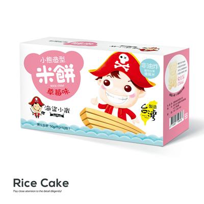 草莓味小熊造型米饼(50g/盒)