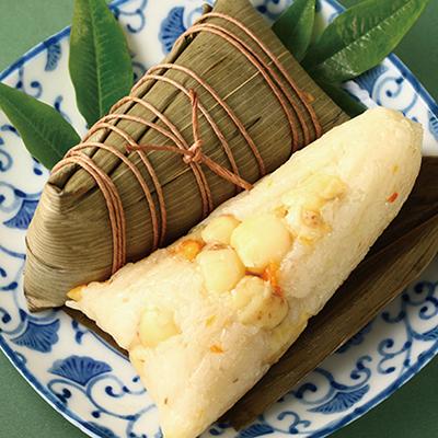 潮州甜粽-桔香蓮子(全素粽)(4入/包)