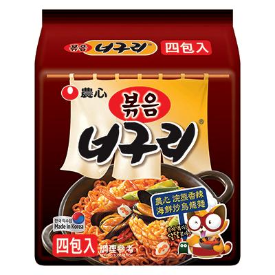 浣熊香辣海鮮炒烏龍麵(137g*4包/袋)