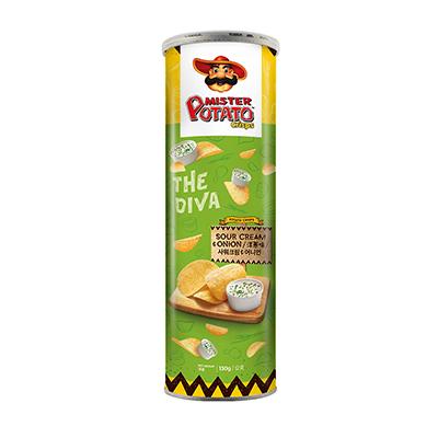 薯片先生-洋蔥味(130g/罐)