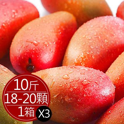 枋寮愛文芒果10台斤(18-20顆)*3箱